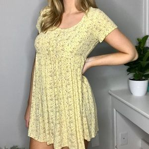 Vintage Gap | Yellow Floral Babydoll Dress Size S